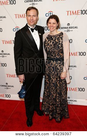 NEW YORK-APR 29: Associate Professor John M. Kovac and guest attend the Time 100 Gala for the Most Influential People at Frederick P. Rose Hall at Lincoln Center on April 29, 2014 in New York City.