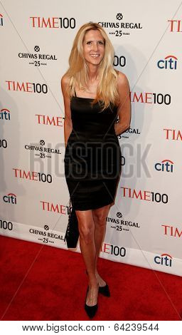 NEW YORK-APR 29: Political commentator Ann Coulter attend the Time 100 Gala for the Most Influential People in the World at Frederick P. Rose Hall at Lincoln Center on April 29, 2014 in New York City.