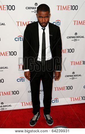 NEW YORK-APR 29: Recording artist Frank Ocean attends the Time 100 Gala for the  Most Influential People in the World at Frederick P. Rose Hall at Lincoln Center on April 29, 2014 in New York City.