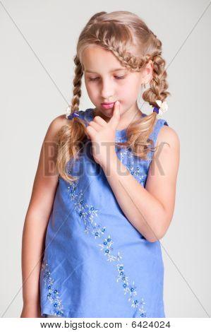 Sad Small Girl
