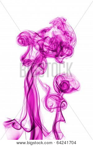 purple abstract smoke isolated on white background