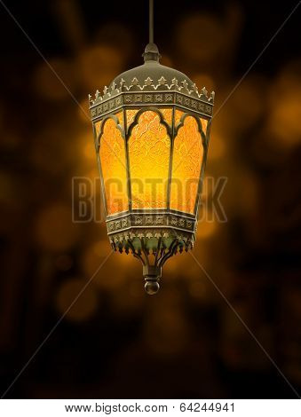 Arabic festive hanging metal lamp
