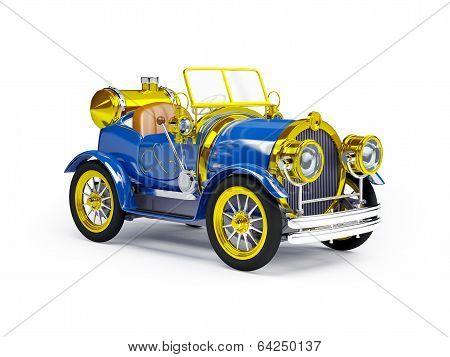 1910 blue retro car
