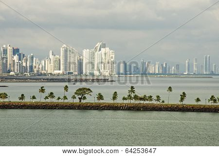 Panama City With Causeway View