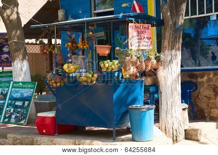 Fruit Juice Stand in Taganga, Colombia
