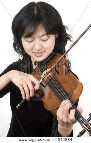 asiatische violinist