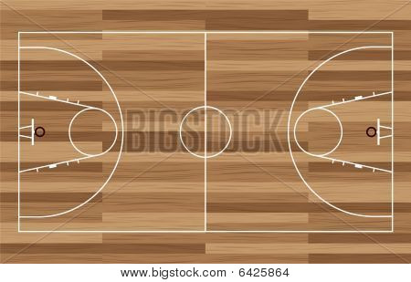 Holz Basketballplatz