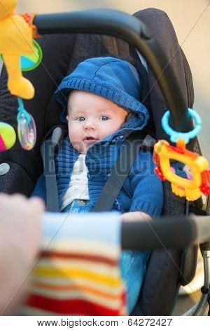 Little Baby Boy In A Stroller