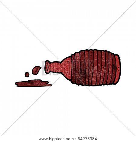 cartoon spilled bottle