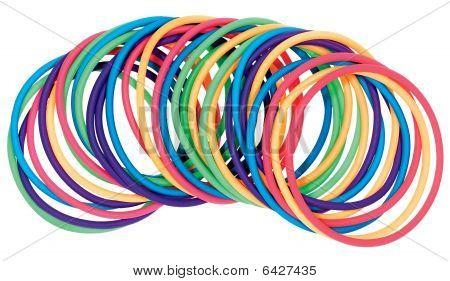 Multicolored Plastic Bracelets