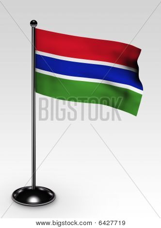 Small Gambia Flag Clipping Path