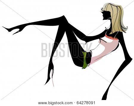 sexy career woman dance