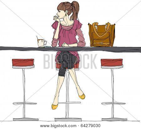 trendy city woman
