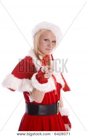 Santa Helper Pointing