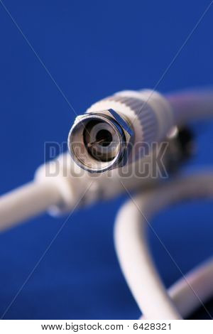 Coaxial Cable In White