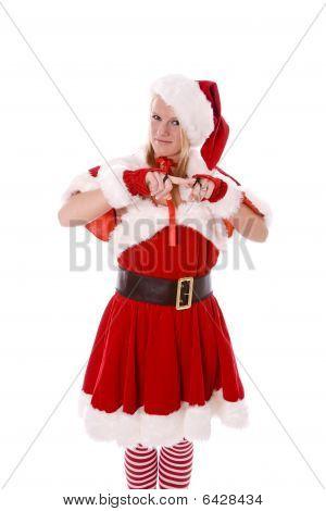 Santas Helper Scolding Standing