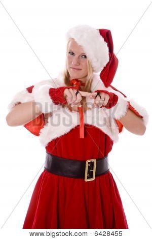 Santas Helper Scolding