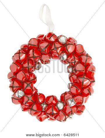 holiday decor, sleigh bell wreath