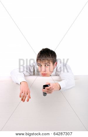 Teenager With Remote Control