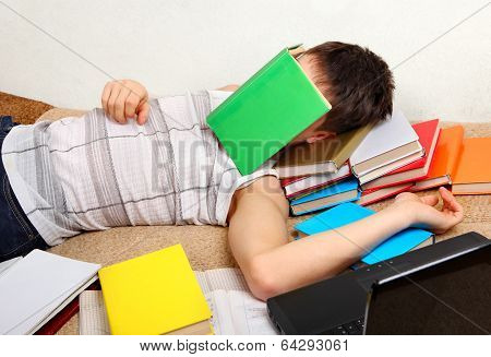 Teenager Sleeps With The Books