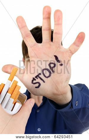 Teenager Refuses Cigarette