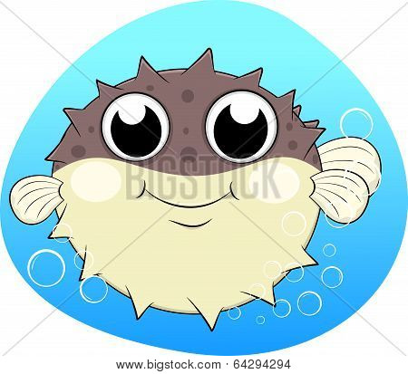 Puffer fish,Blow fish With bubbles