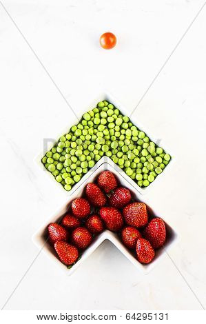 Green Peas And Strawberries