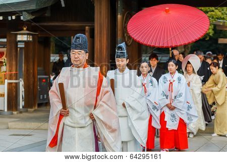 Japanese Priest at a Wedding Ceremony