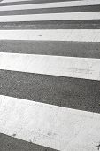 picture of zebra crossing  - Zebra crossing without anyone crossing it - JPG