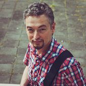 picture of goatee  - Portrait of a man with goatee in short sleeve shirt - JPG