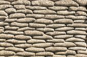 picture of sandbag  - Background of sandbags in trench of death - JPG