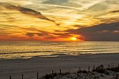 picture of florida-orange  - Beautiful sunset in Panama City Florida over the Gulf of Mexico