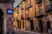 stock photo of front-entry  - Old architecture in Siguenza in Guadalajara province - JPG