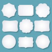 stock photo of paper craft  - Set of paper decorative frames - JPG