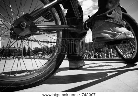 Extreme Bmx(focus Point On The Shoes)