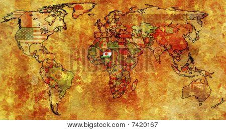Niger On World Map