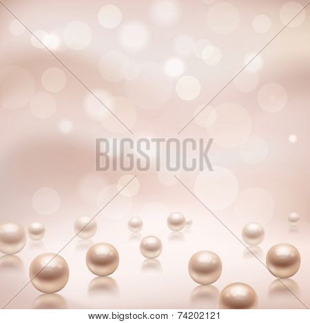 Luxury pearls background