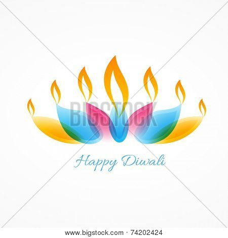 vector stylish diya of diwali
