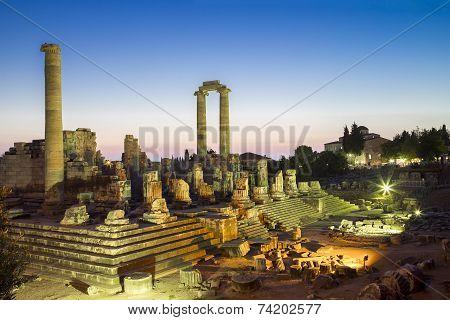 Temple Of Apollo Ruins In Didyma Antique City Turkey 2014
