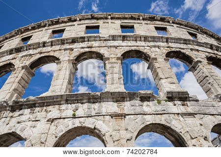 Ancient Roman amphitheater, the Colosseum.
