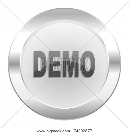 demo chrome web icon isolated
