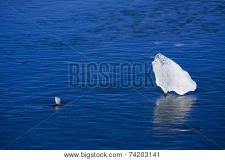 Cool blue ice sheet.