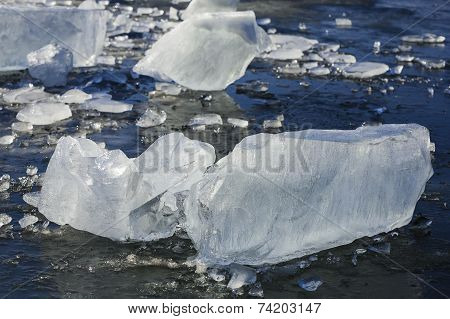 Cool cristal ice sheets.