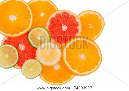 slices of an orange. symbol photo for healthy vitamins with fresh fruit