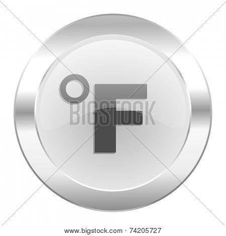 fahrenheit chrome web icon isolated