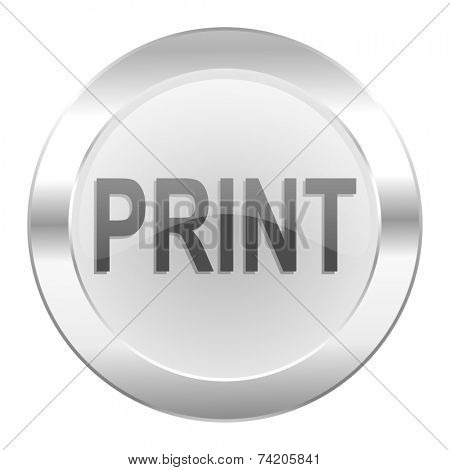 print chrome web icon isolated