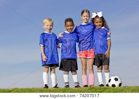Young Kids on a Soccer Team group photo