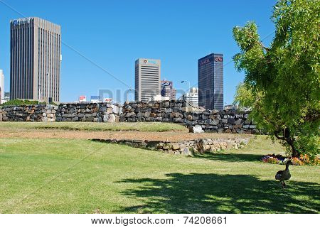 City park and view of Downtown, Cape Town South Africa