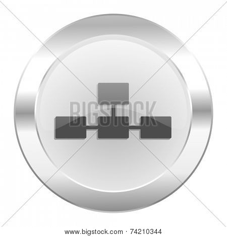database chrome web icon isolated