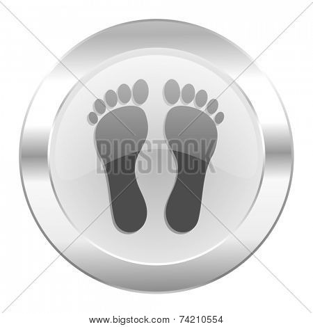 foot chrome web icon isolated